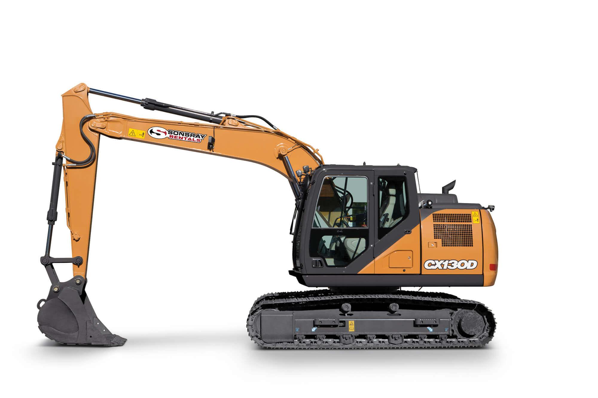 long reach excavator rental